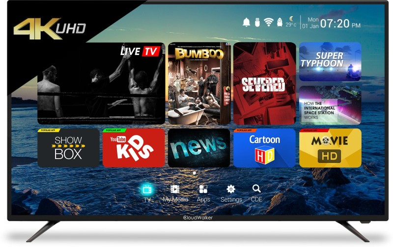 CloudWalker 139cm (55 inch) Ultra HD (4K) LED Smart TV(55SU)