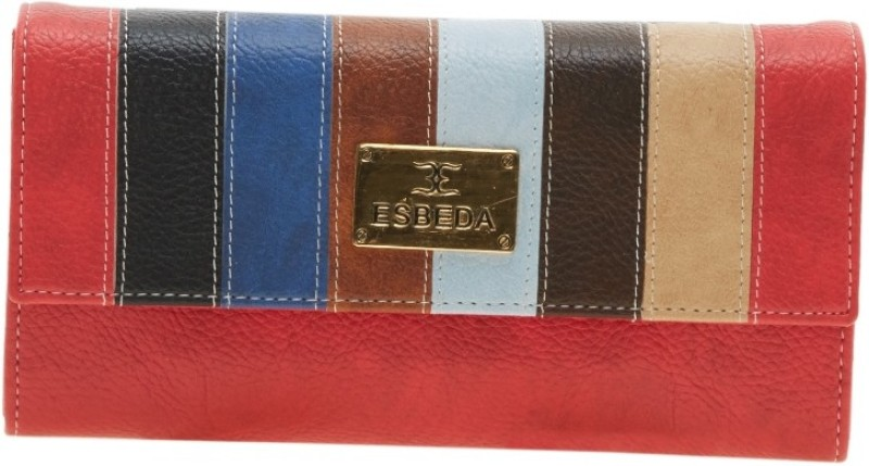Esbeda Women Red Artificial Leather Wallet(9 Card Slots)
