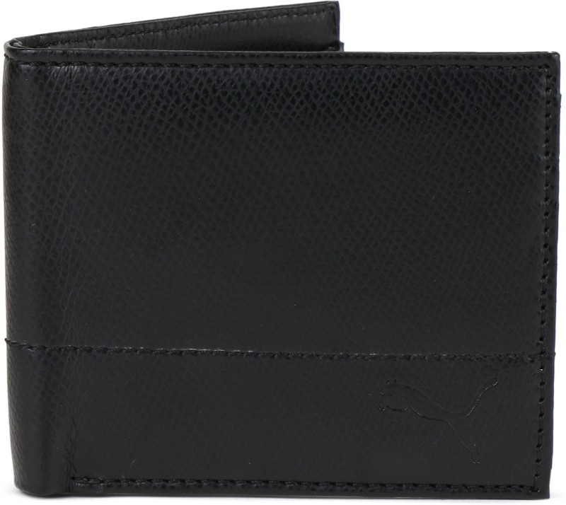 Puma Men Black Artificial Leather Wallet(4 Card Slots)
