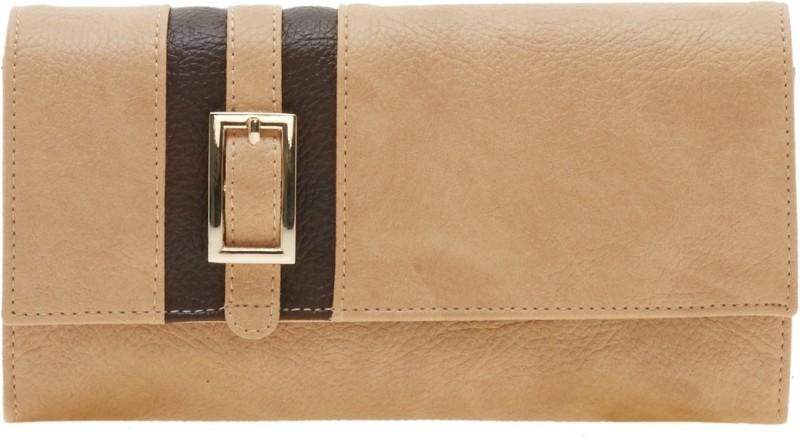 Esbeda Women Beige Artificial Leather Wallet(12 Card Slots)