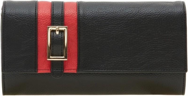 Esbeda Women Black Artificial Leather Wallet(12 Card Slots)