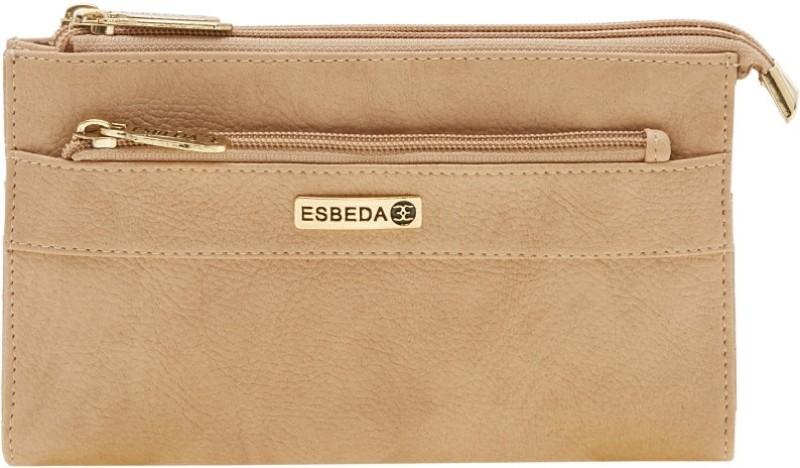 Esbeda Women Beige Artificial Leather Wallet(14 Card Slots)