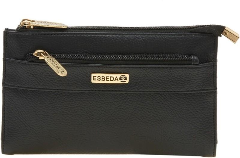 Esbeda Women Black Artificial Leather Wallet(14 Card Slots)