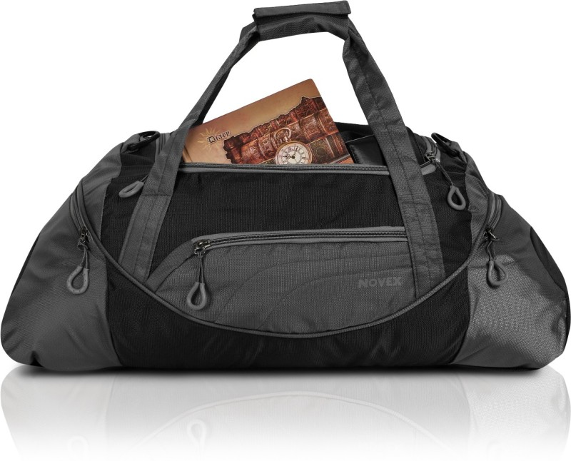 Novex Lite Travel Duffel Bag(Black, Grey)
