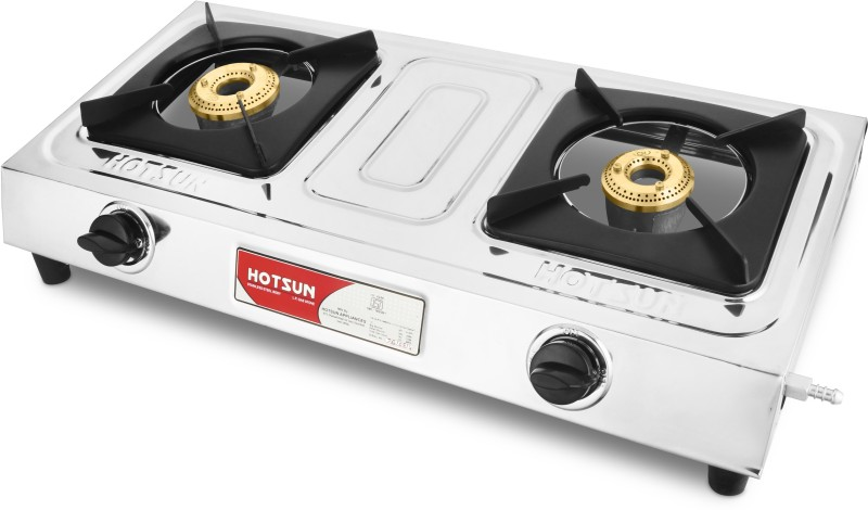 Hotsun Stainless Steel Manual Gas Stove(2 Burners)