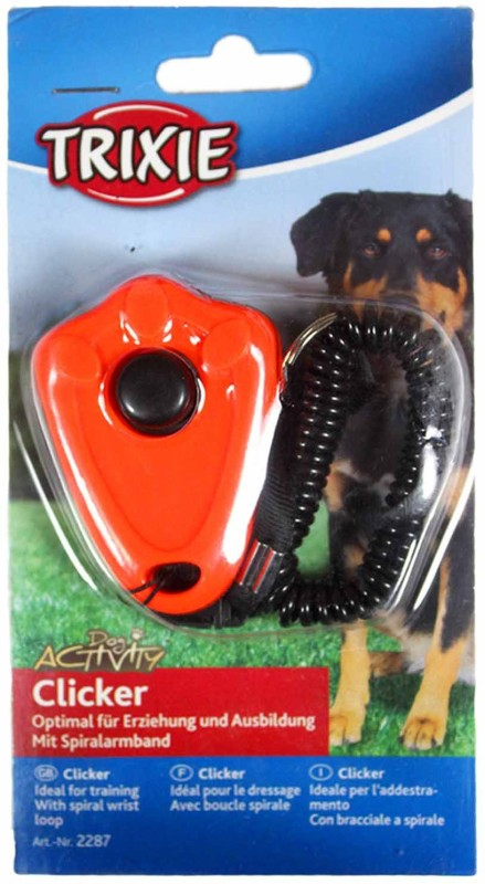 trixie Clicker with spiral wrist loop for dog training Plastic Training Aid For Dog