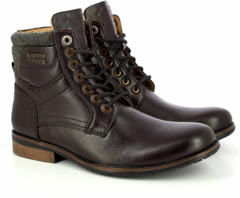 Alberto Torresi Boots For Men(Brown)