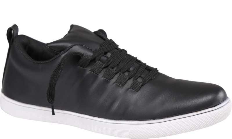 Xtreme Mens Black Synthetic Leather Casual Shoes Sneakers For Men(Black)