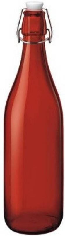 Blue Birds USA Homeware Glass 1000 ml Bottle(Pack of 1, Red)