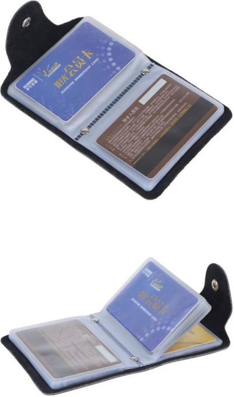 AR Enterprises 10 Card Holder(Set of 1, Black)