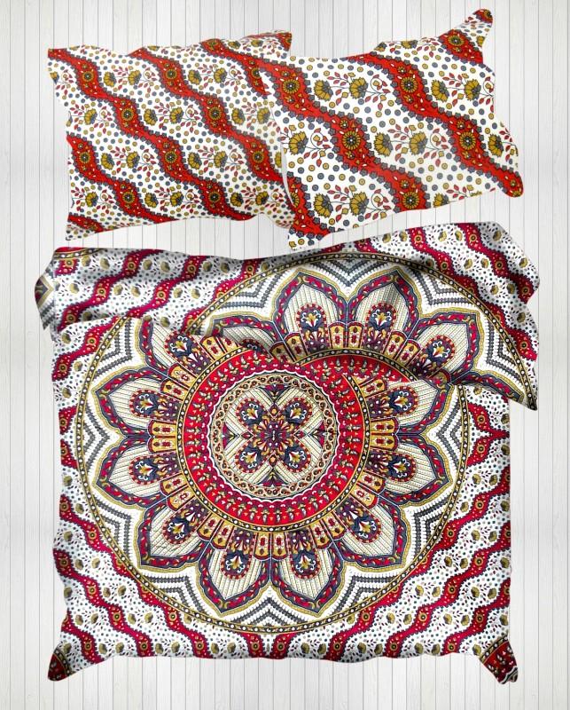 Miyanbazaz Queen Cotton Duvet Cover(Red)