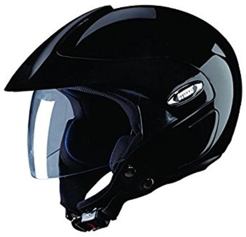 Studds Studds Marshall Dashing Shiny Black ISI Certified Helmet Motorsports Helmet(Black)
