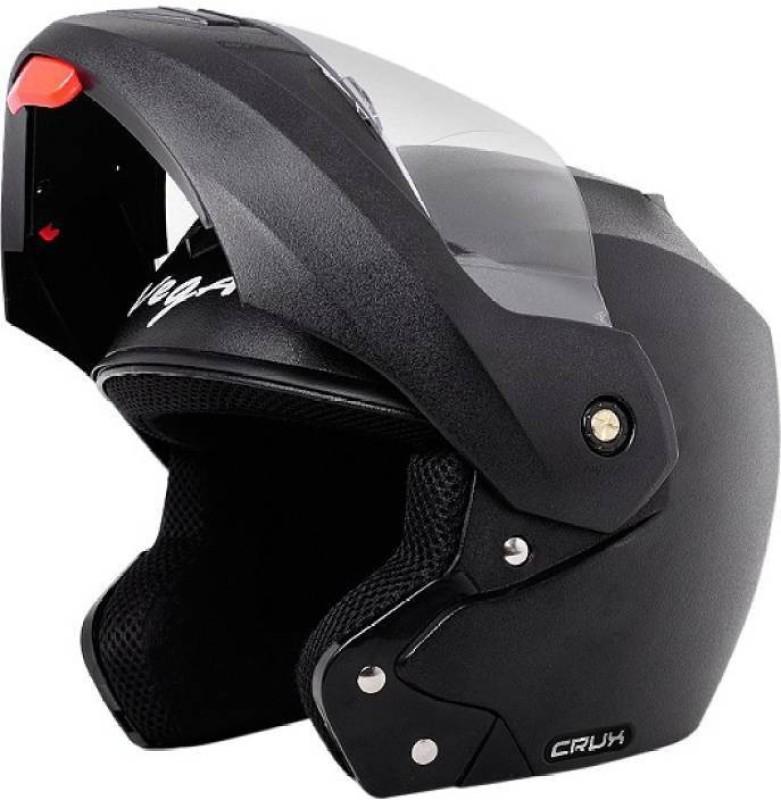 VEGA Crux Dashing Flipup Fiber ISI Certified Motorsports Helmet(Black)