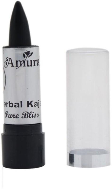 AMURA Herbal Kajal Dry Pure Bliss 3 g(Black)