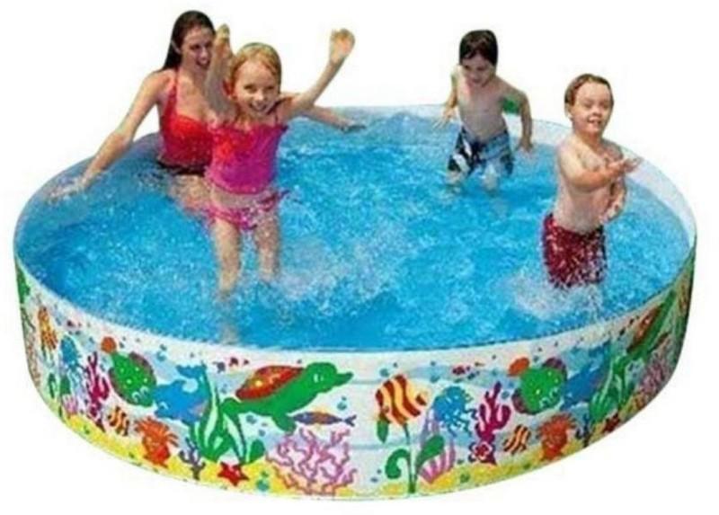 Kashti Multicolour Plastic Swimming Pool(Multicolor)