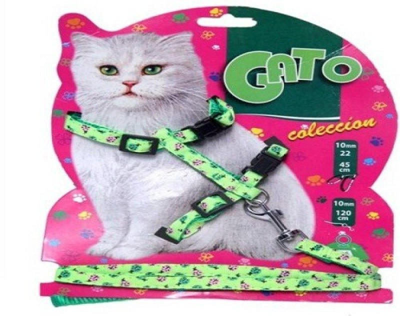 jeewan Dog & Cat Harness & Leash(25 - 35 cm, green)