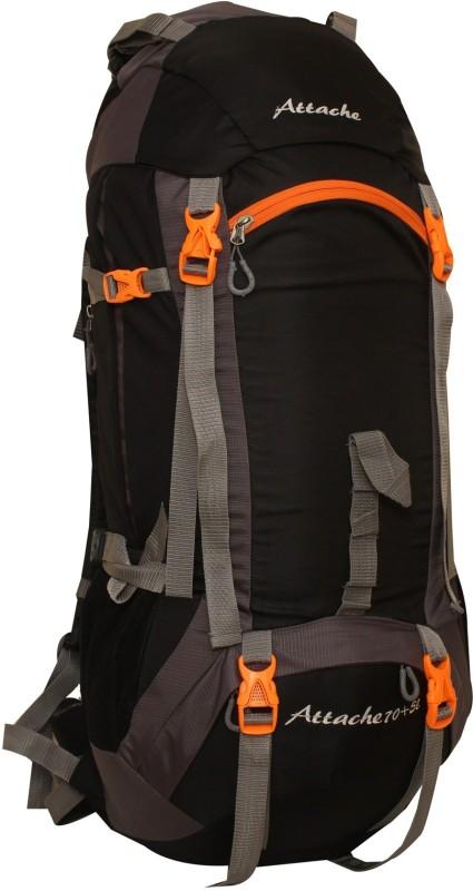 Attache 1026R Hiking Backpack (Black) With Rain Cover Rucksack - 75 L(Black, Grey)