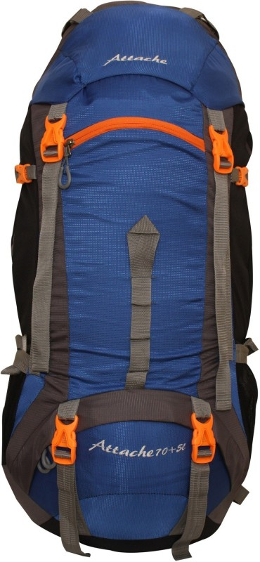 Attache 1026R Hiking Backpack (Royal Blue) With Rain Cover Rucksack - 75 L(Blue, Grey)