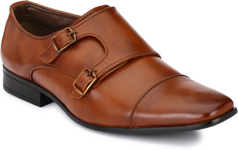 Afrojack Monk Strap For Men(Tan)