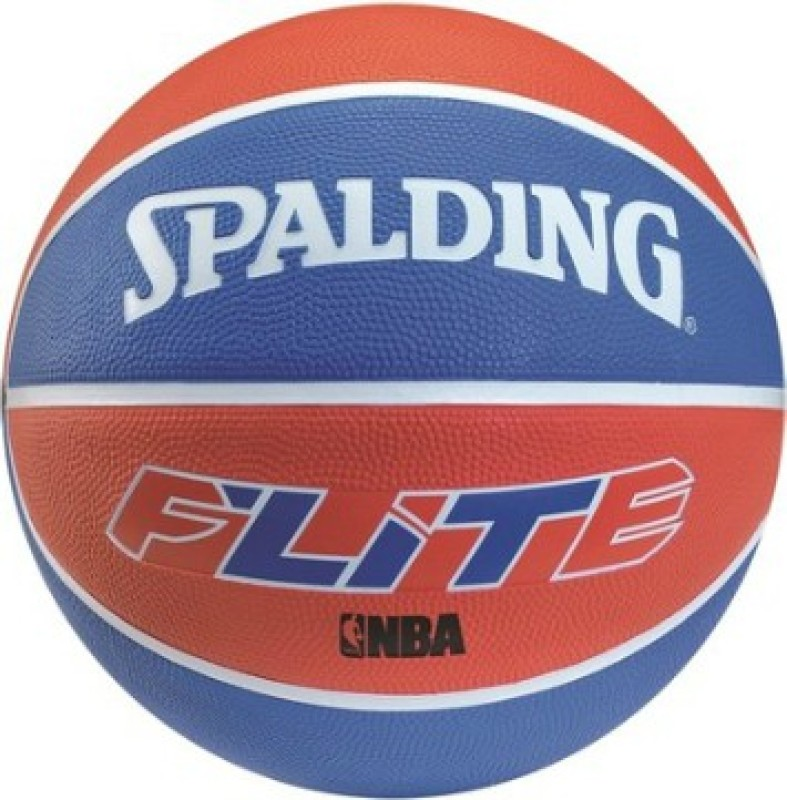 SPALDING Flite NBA Basketball - Size: 7(Pack of 1, White, Blue, Brown)