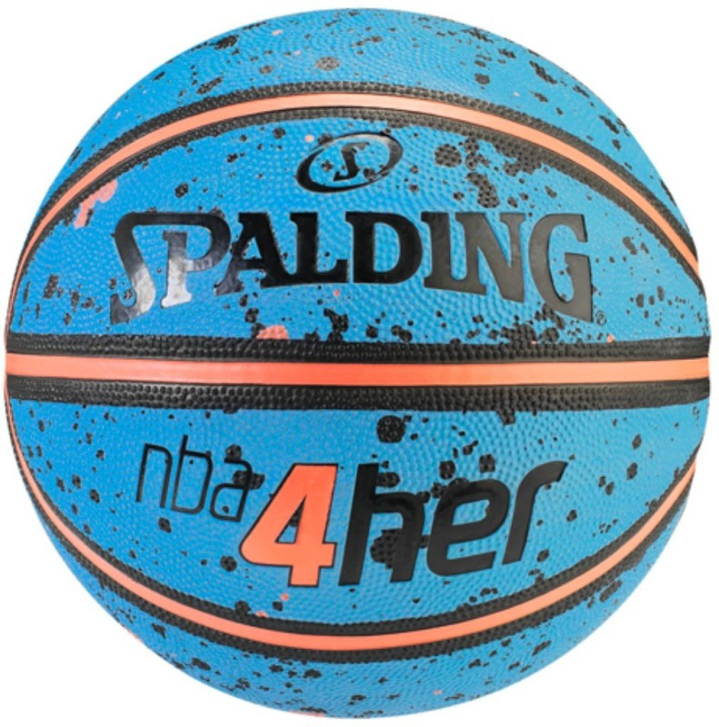 SPALDING NBA 4Her Basketball - Size: 6(Pack of 1, Blue, Orange)