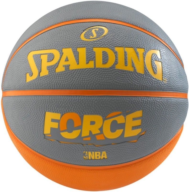 SPALDING Force NBA Basketball - Size: 6(Pack of 1, Orange, Grey)
