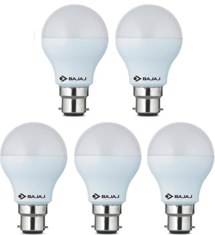 Bajaj 7 W Standard B22 LED Bulb(White, Pack of 5)