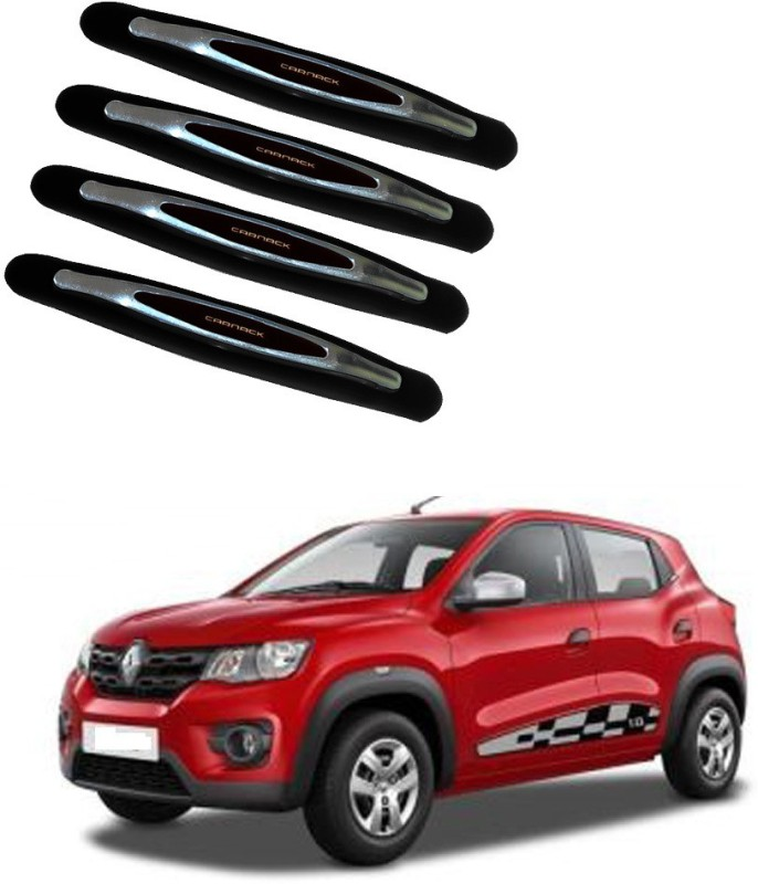 AdroitZ Plastic Car Door Guard(Black, Pack of 4, Renault, Kwid)