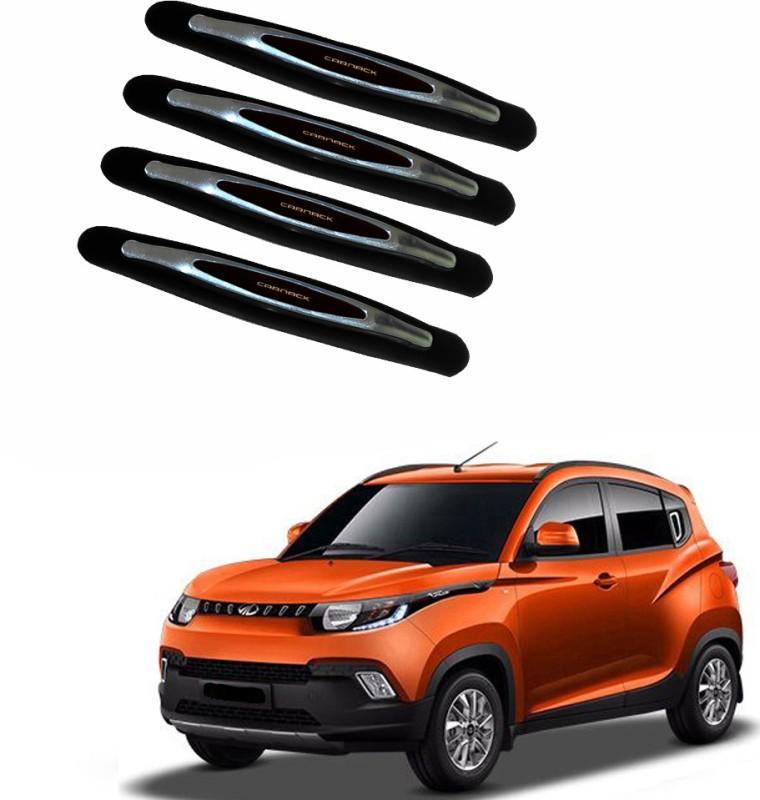 AdroitZ Plastic Car Door Guard(Black, Pack of 4, Mahindra, KUV100)
