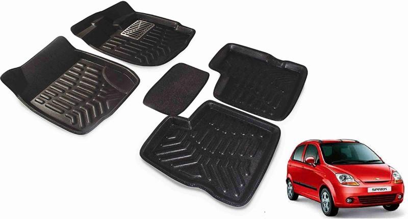 A K Traders Plastic 3D Mat For Chevrolet Spark(Black)