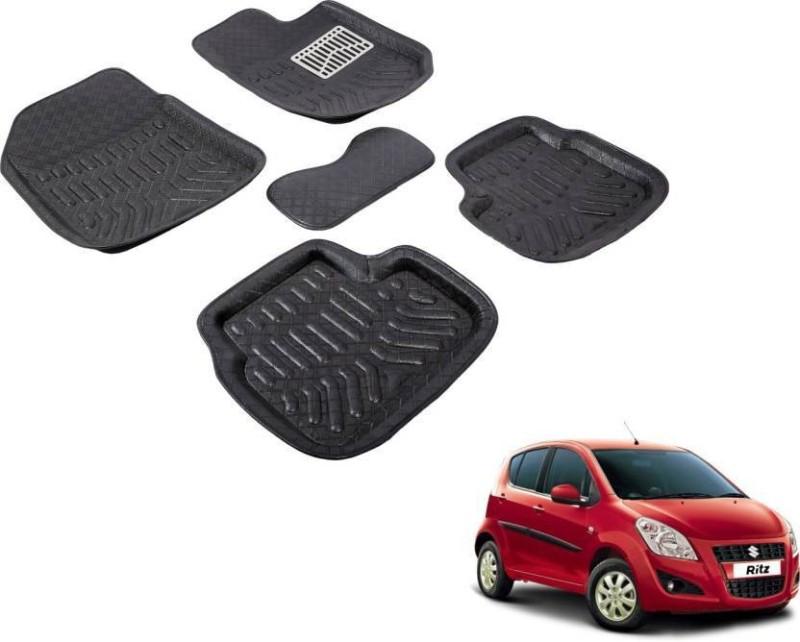 A K Online Services Plastic Standard Mat For Maruti Suzuki Ritz(Black)