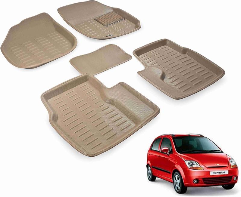 A K Traders Plastic Standard Mat For Chevrolet Spark(Beige)