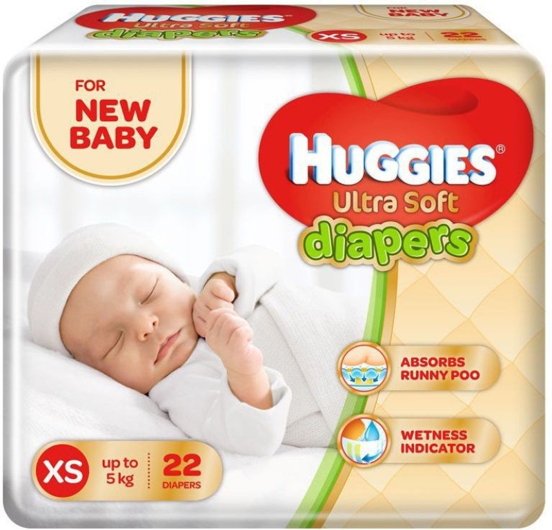 Huggies Ultra Soft Diaper - XS(22 Pieces)
