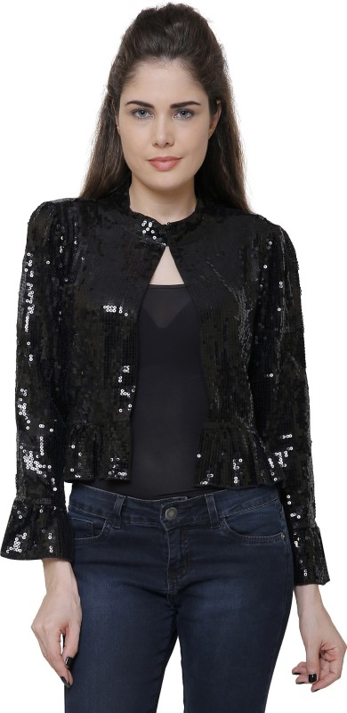 MansiCollections Full Sleeve Embellished Womens Bodycon Jacket