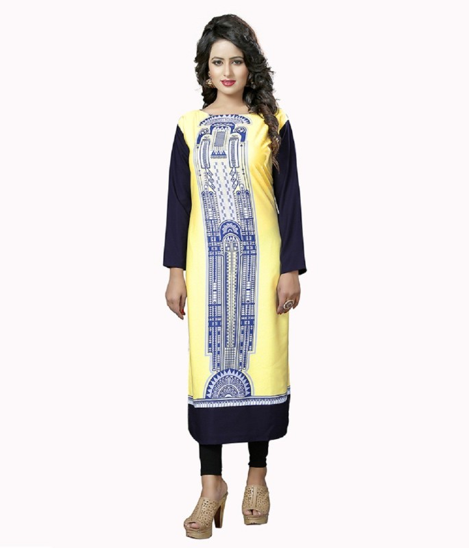 GO BANSY FASHION Rayon Printed Kurti Fabric(Un-stitched)