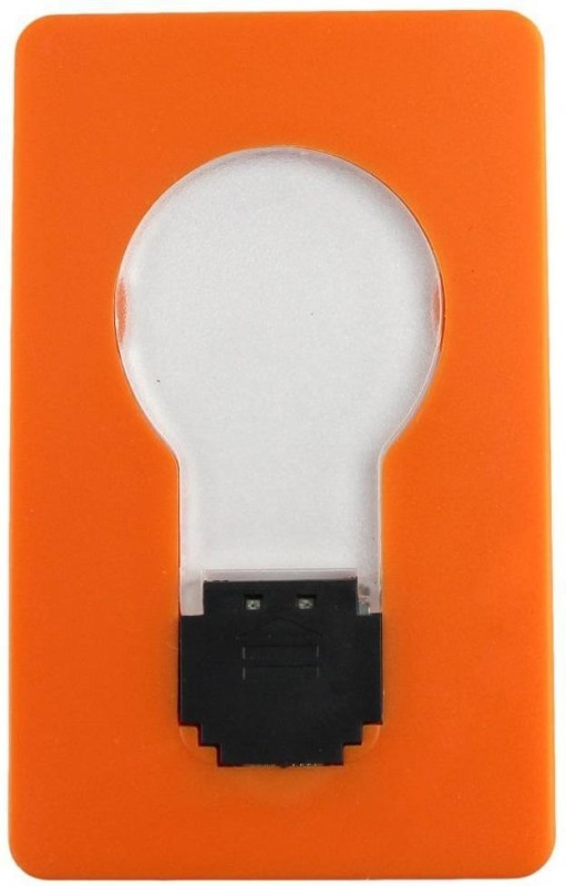 VibeX Jackie Portable Pocket LED Card Light Lamp Put in Purse Wallet LED Lantern(Orange)