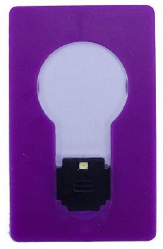 VibeX Wallet Purse Pocket Credit Card Portable LED Night Light Lamp Bulbs LED Lantern(Purple)