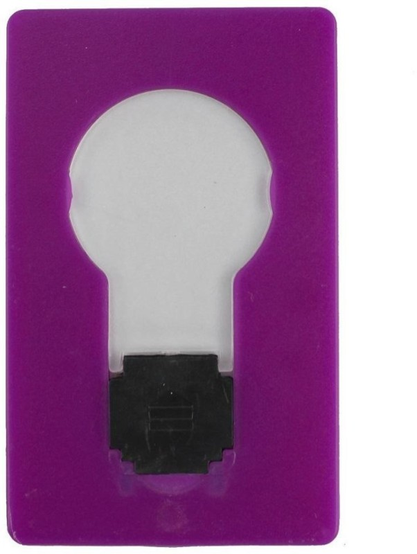 VibeX Mini Wallet Pocket Credit Card Size Portable LED Night Light Lamp Bulbs Cute LED Lantern(Purple)