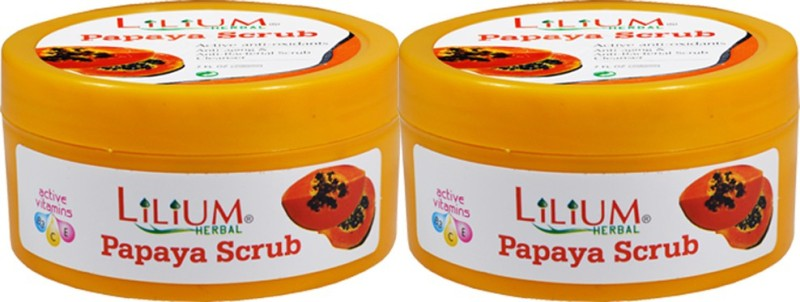 LILIUM Papaya Scrub 100ml Pack of 2 Scrub(100 ml)
