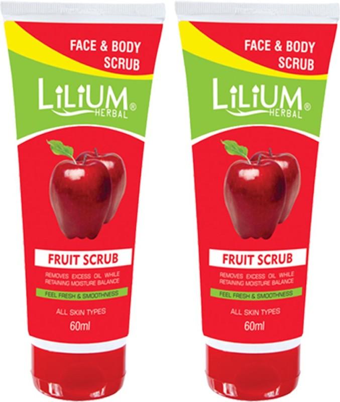 LILIUM Face & Body Fruit Scrub 60ml Pack of 2 Scrub(60 ml)