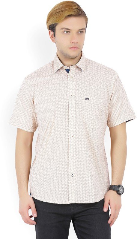 Arrow Sport Mens Printed Casual Beige Shirt