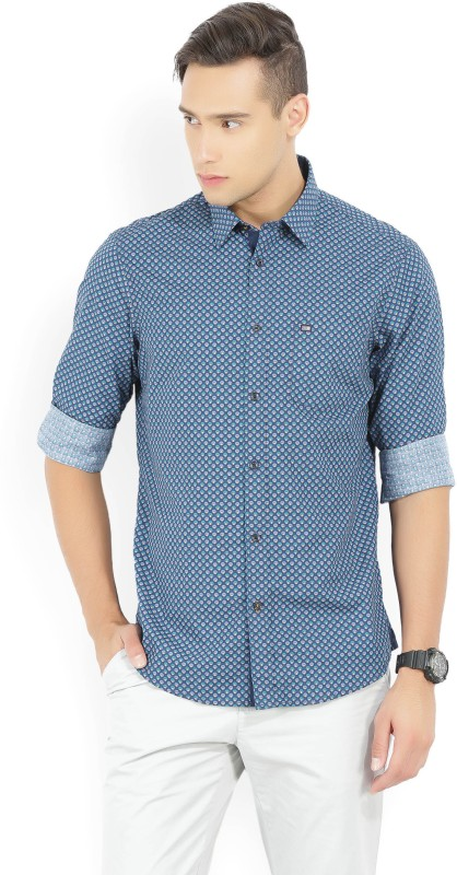 Arrow Sport Men's Printed Casual Blue Shirt