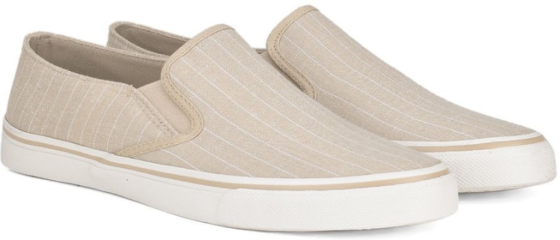 United Colors of Benetton Slip On Sneakers For Men(Beige)