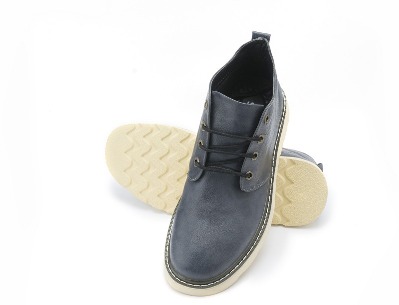 Sting Blue Casual Mid Angle Boots Casuals For Men(Blue)