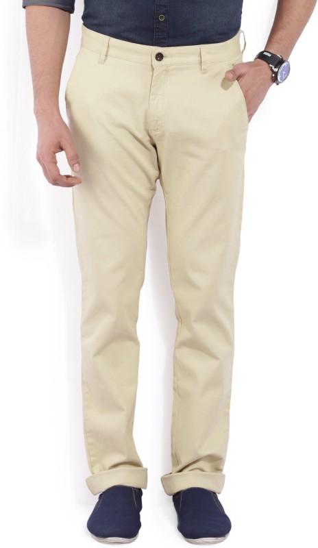 Arrow Sport Slim Fit Mens Beige Trousers