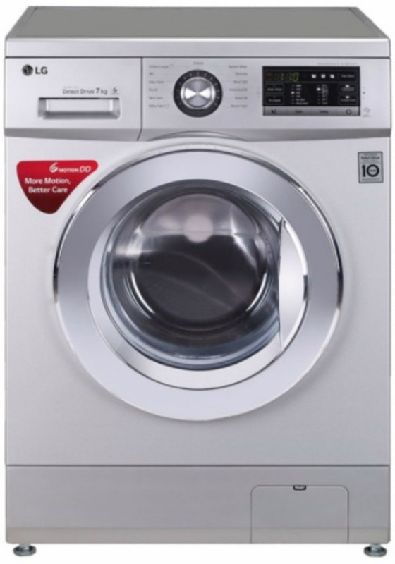 LG 7 kg Fully Automatic Front Load Washing Machine Silver(FH2G6HDNL42)