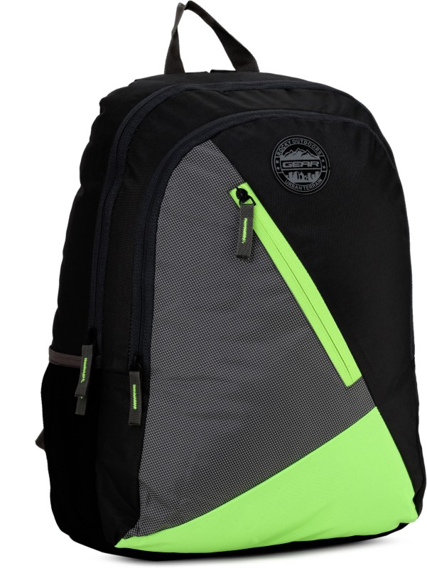 Gear Blocky Backpack 31 L Backpack(Grey, Green)