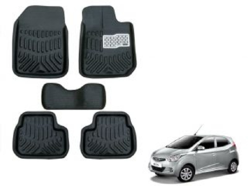 A K Traders Plastic Standard Mat For Hyundai Eon(Black)