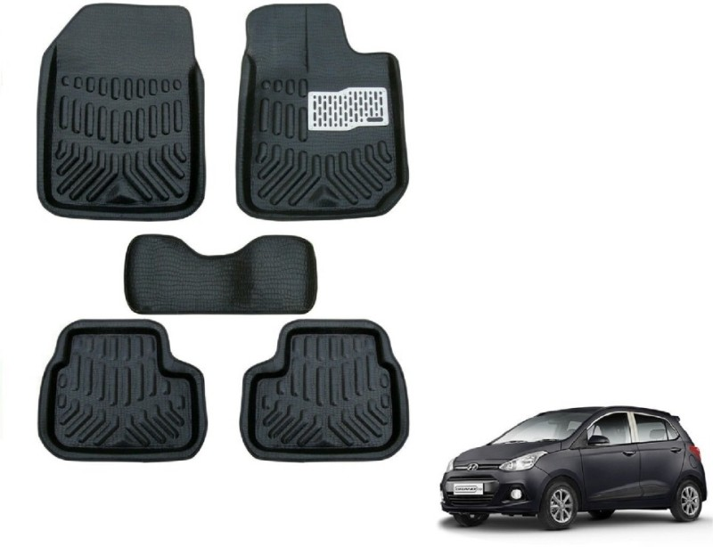 A K Traders Plastic Standard Mat For Hyundai Grand i10(Black)