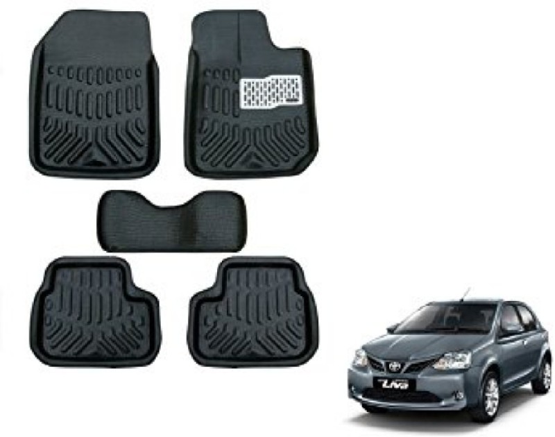 A K Traders Plastic Standard Mat For Toyota Etios(Black)